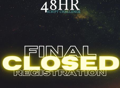 FINAL REGISTRATION CLOSED