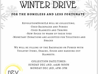 Winter Drive for the Homeless