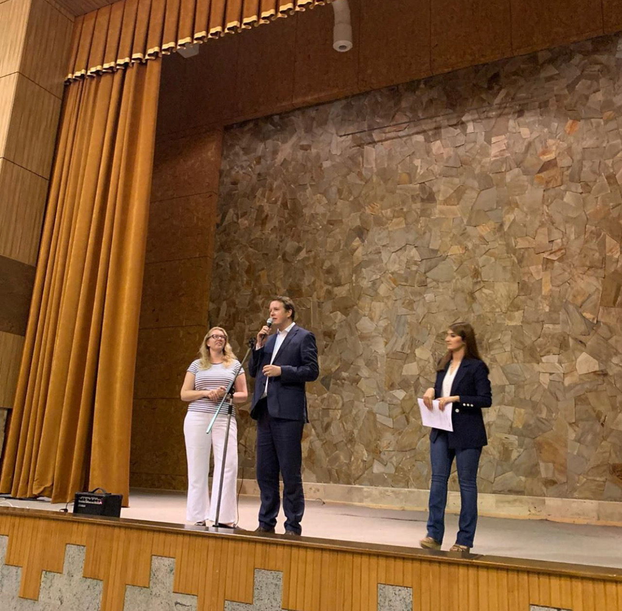 Tom and Helen addressing the parents