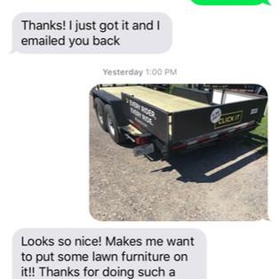 Texts on a Trailer Repair