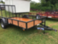 Pipe Trailer with expanded metal sides and tailgate