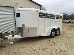 6'x6'x16' White Livestock Show Trailer