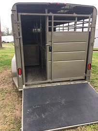 "6'8""x16' Livestock Show Trailers Rear Ramp and sliding door"
