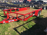 """6'4""""x16' Red Utility Trailer"""