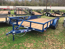 16' Blue Pipe Utility Trailer
