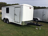 7'x16' Cargo Trailer with windows and interior finish