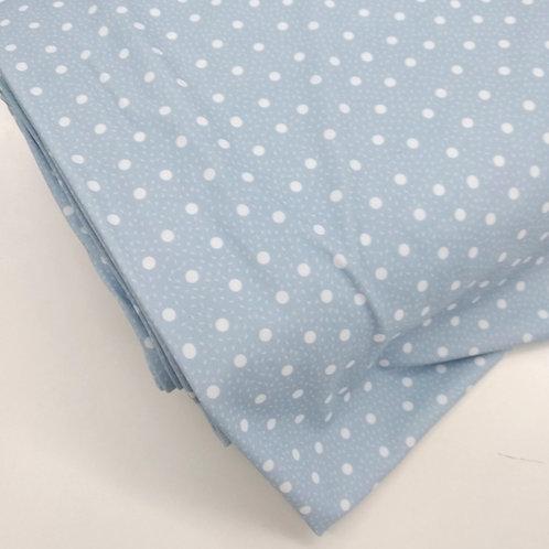 Topos blancos fondo azul