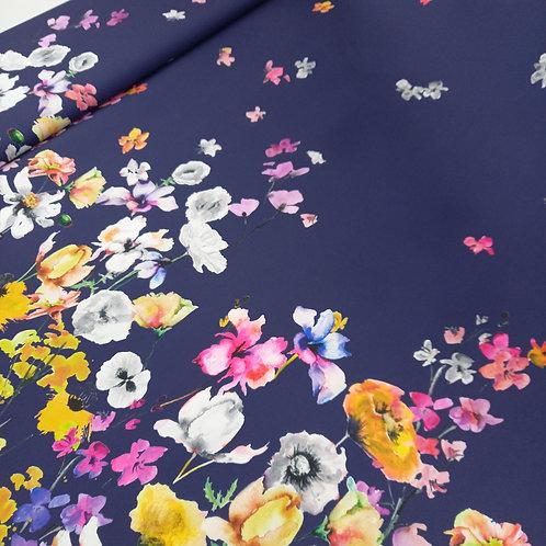 Mikado azul con flores