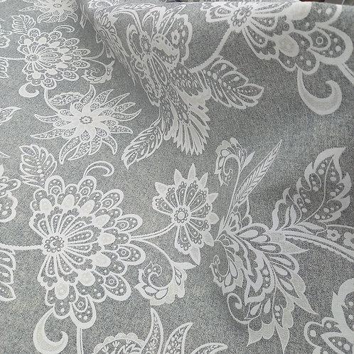 Loneta Flores blancas