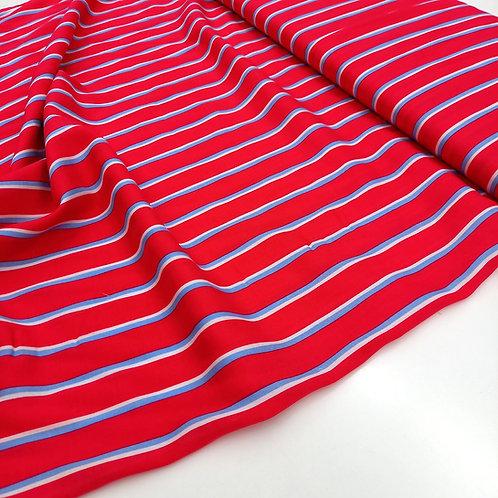 Viscosa Rayas rojas y azules