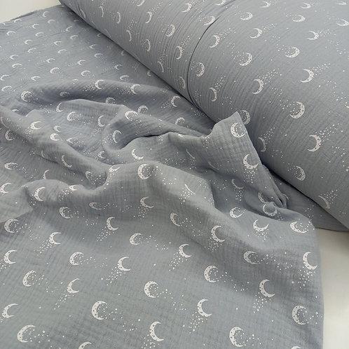 Muselina Lunas gris