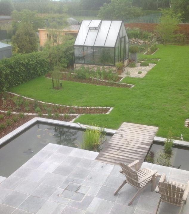 Groene en landelijke villatuin Wellen