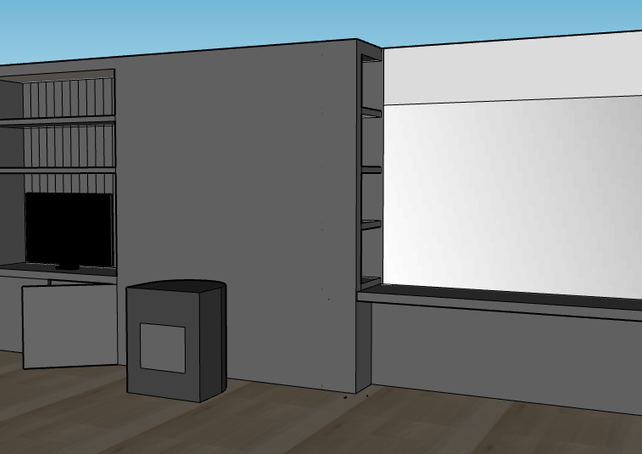 Design TV wall Jesseren