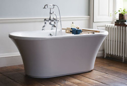 Freestanding bath and taps