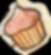 Baylor Bunny Cupcake Orange.png
