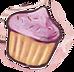 Baylor Bunny Cupcake Pink.png