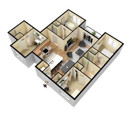 4 Bedroom Flat