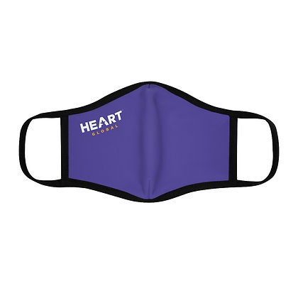 ⭐️ HEART Global Fitted Face Mask - PURPLE