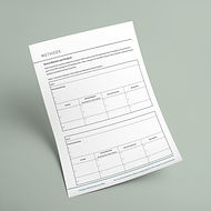 Evaluation Plan - Template