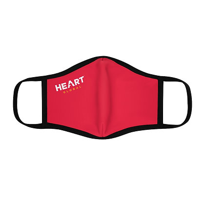⭐️ HEART Global Fitted Face Mask - RED