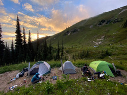 Backpacking camp