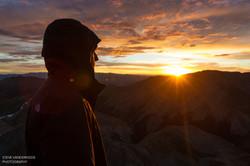 Sunrise summit on Mt. Huron