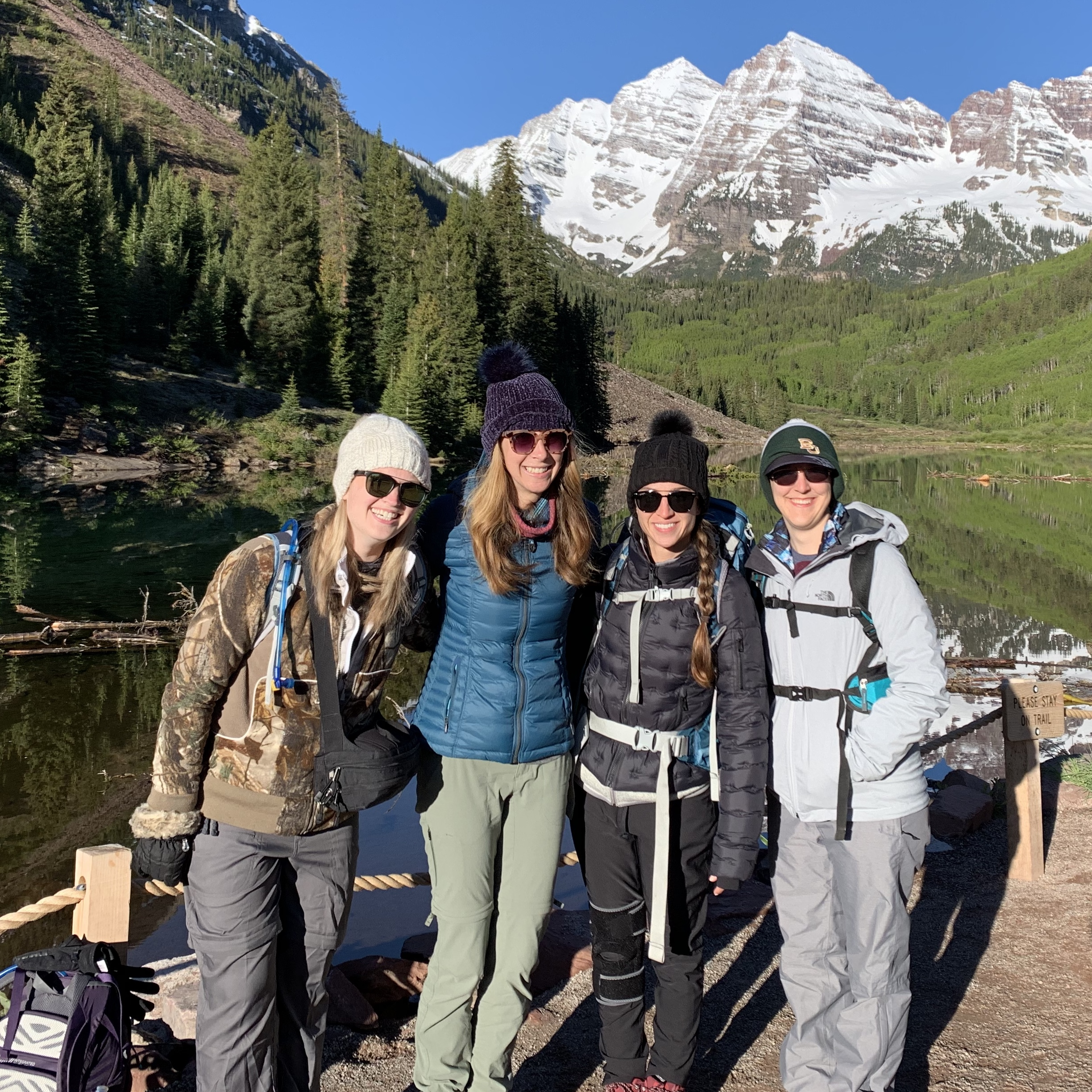 Hiking near Maroon Bells