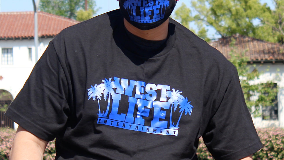 West Life Entertainment Black and BlueTee