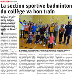 Section Badminton Charmes