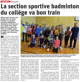 Section Badminton Charmes