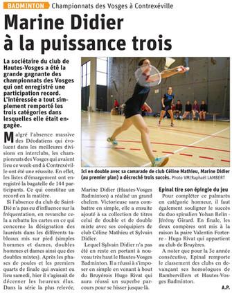 Championnats des Vosges 2020