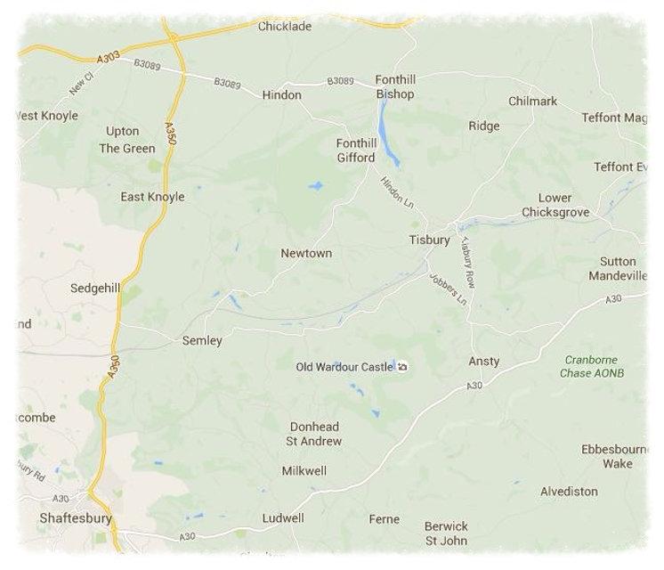 Family & Parish History : SE Wiltshire Map