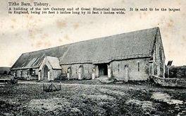 Family & Parish History : Tisbury : Tithe Barn