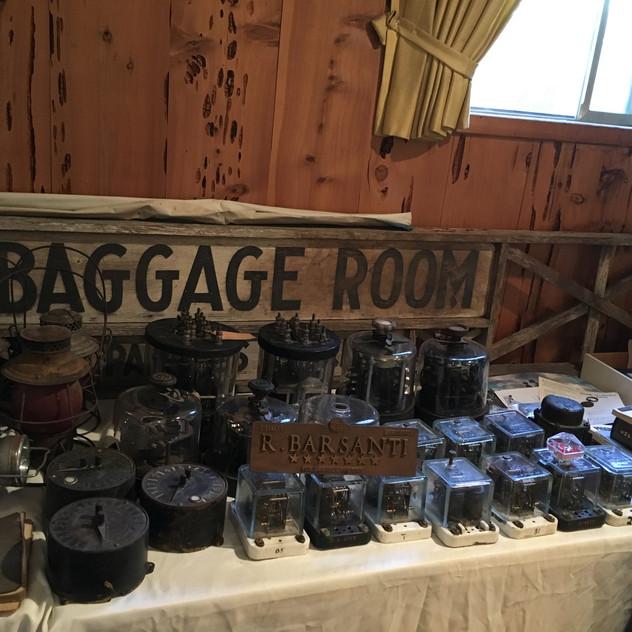 Original RR Baggage Room Sign
