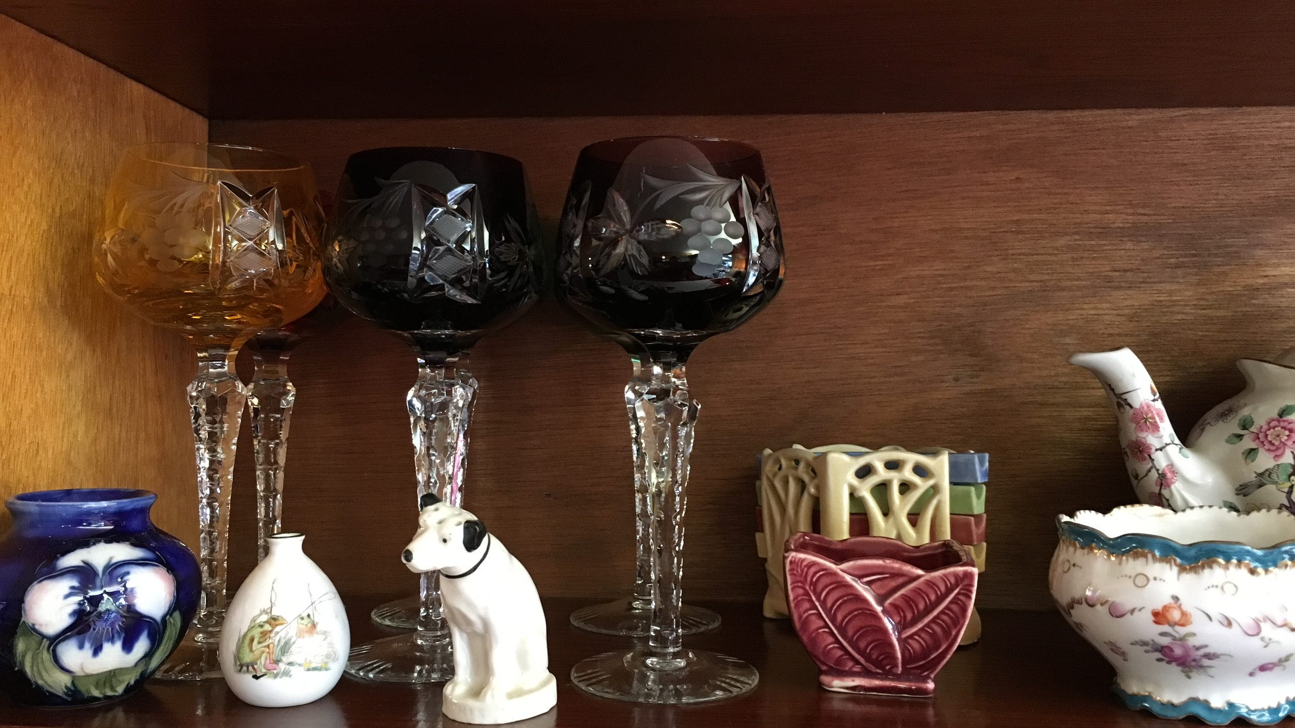 Cased Glass Cut Goblets