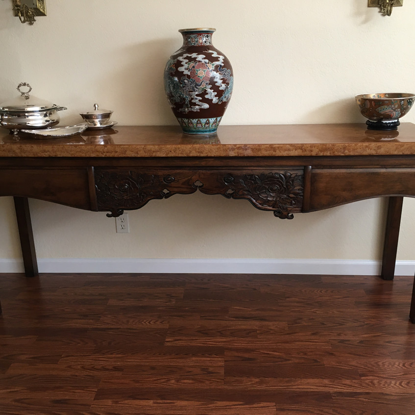 Console Table, Faux Marble