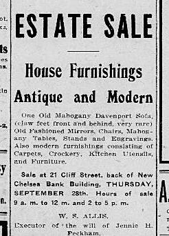 Circa 1900 Estate Sale Antique and Modern