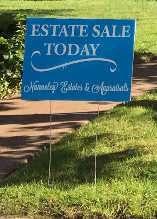 Sacramento Estate Sale Sign