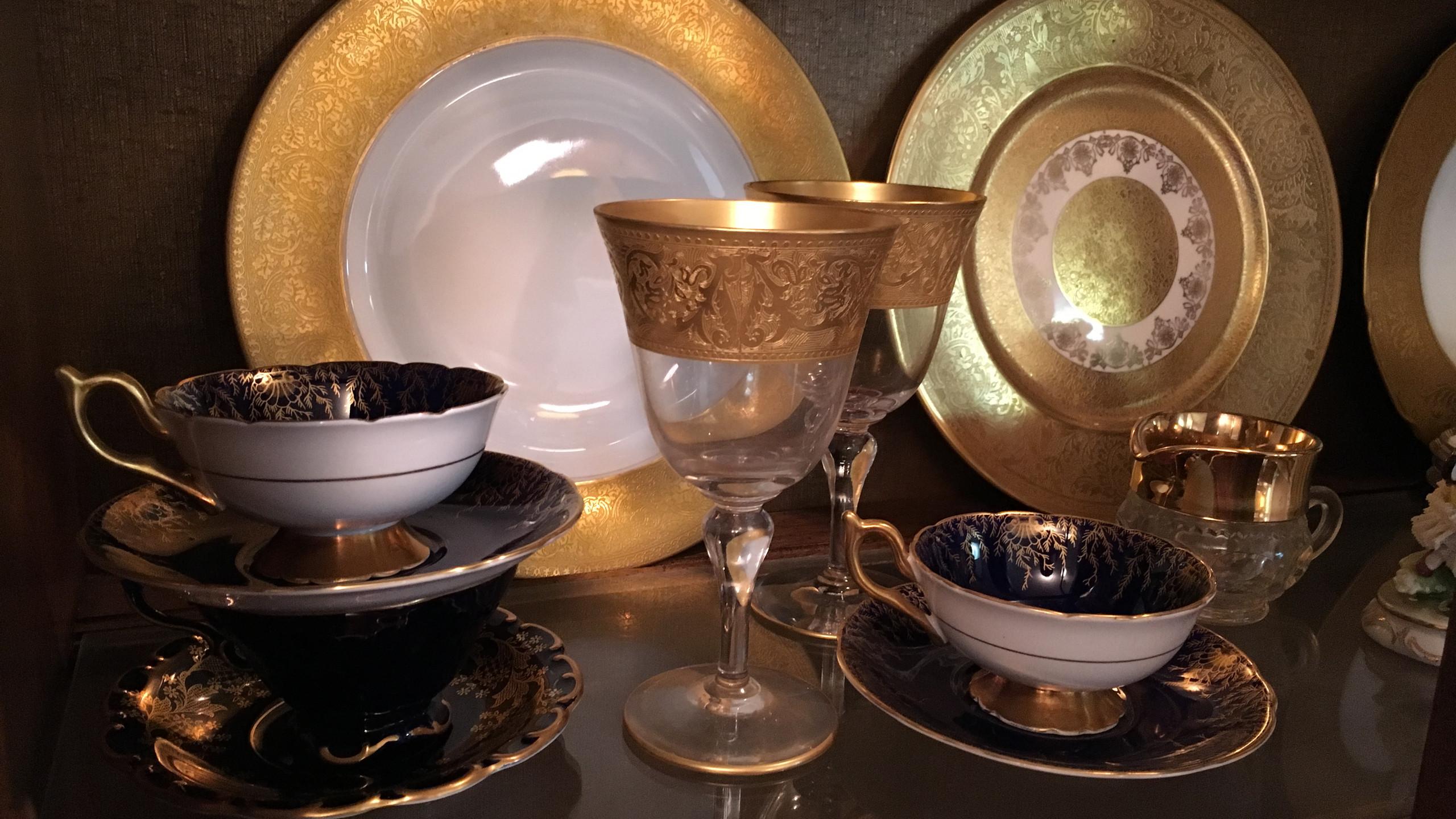 Gold Embellished China