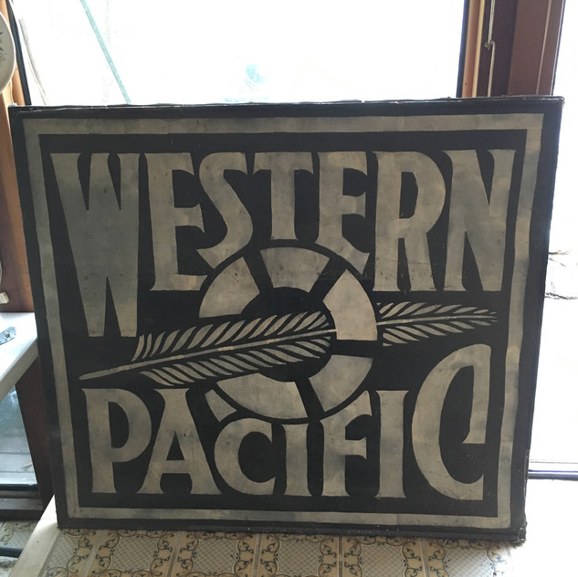 Western Pacific Sign on Canvas