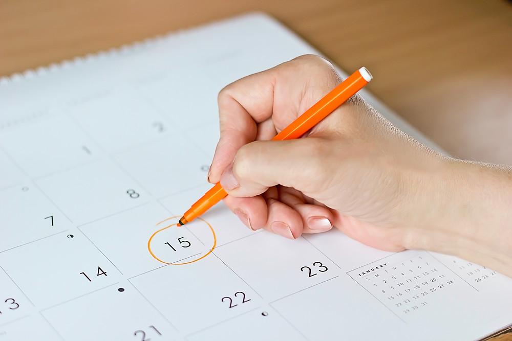 Estate Sale Calendar Dates
