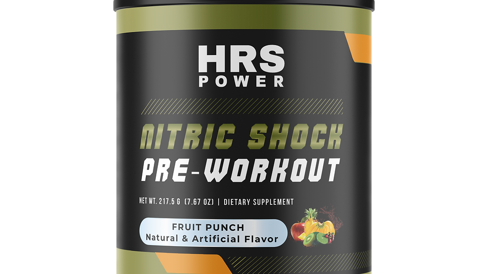 HRS Power - Nitric Shock Pre-Workout (Fruit Punch)