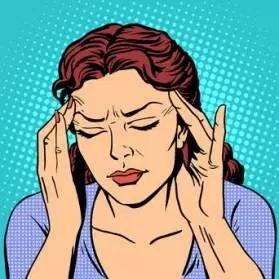 Ilustração em pop art com moça preocupada com as mãos no rosto