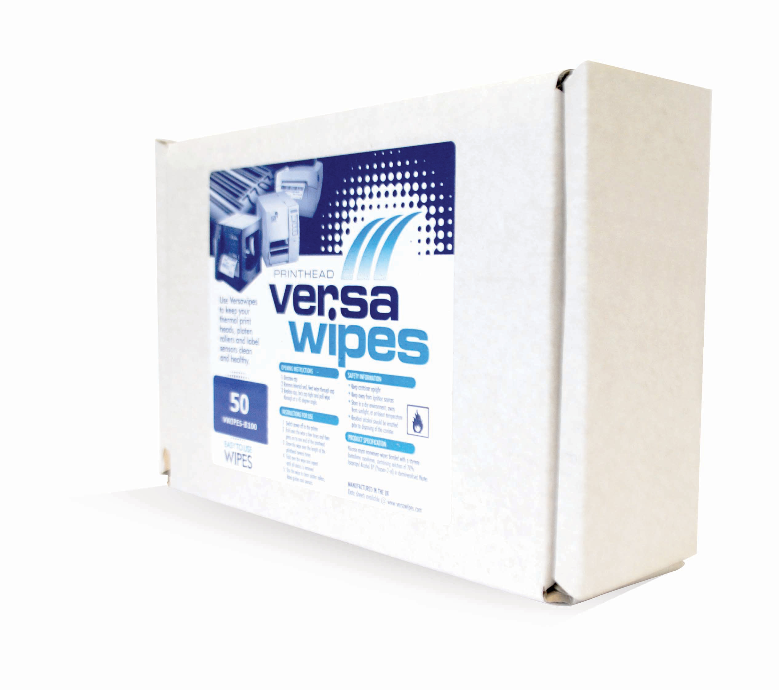 Versawipes in sachet form
