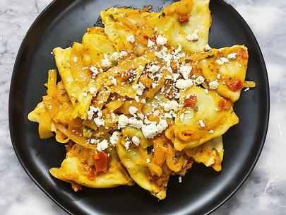 Sun-Dried Tomato Pesto Ravioli