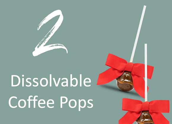 2 Dissolvable Coffee Pops