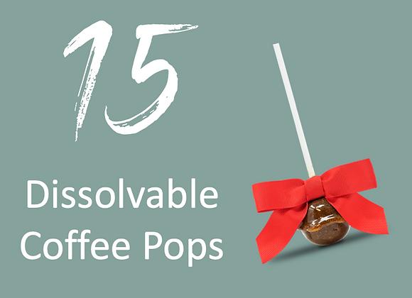 15 Dissolvable Coffee Pops
