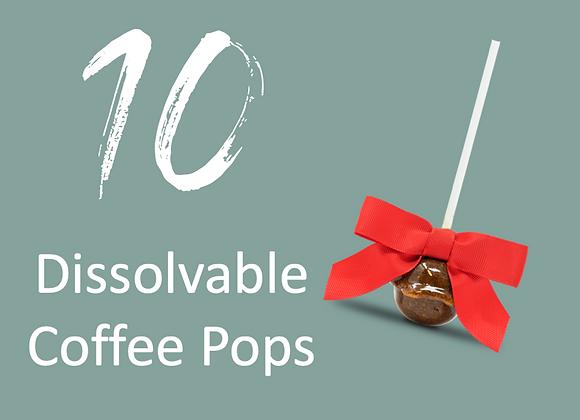 10 Dissolvable Coffee Pops