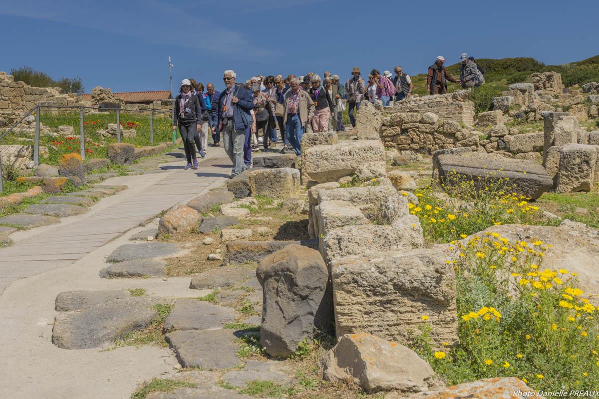 Sur île site archéologique de Tharro