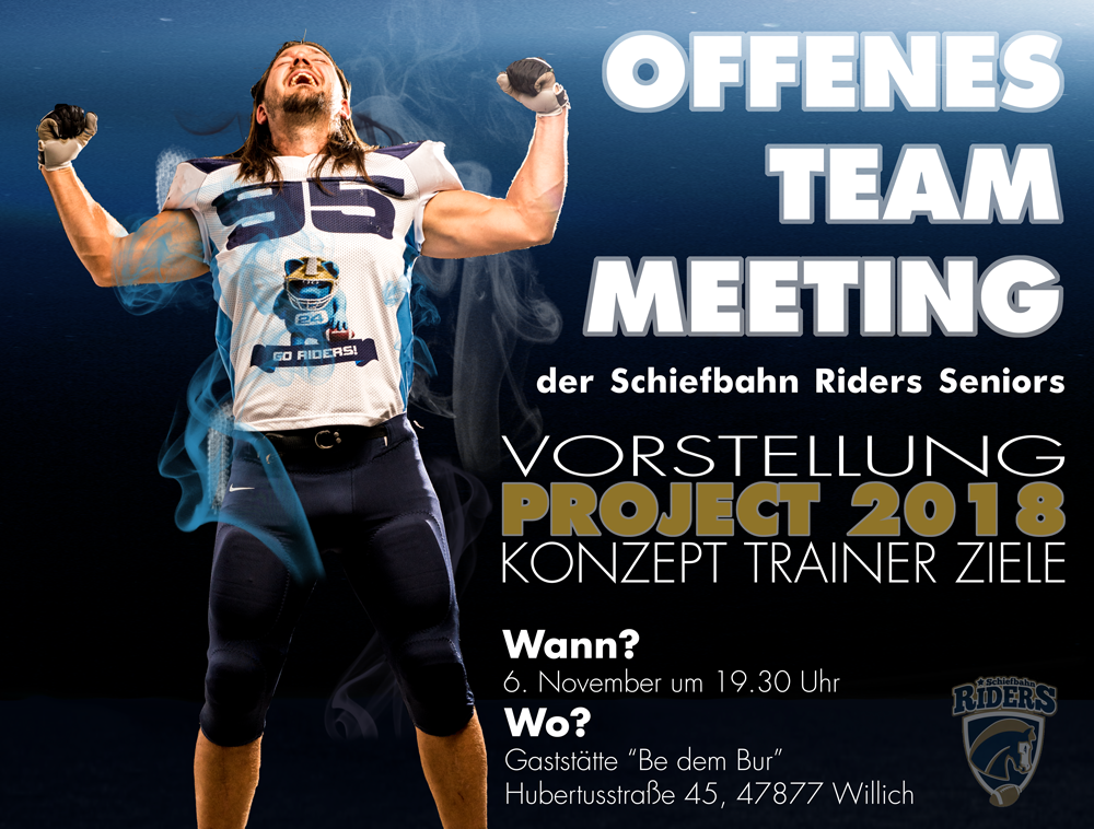 6.11.2017 Offenes Team Meeting Riders Seniors